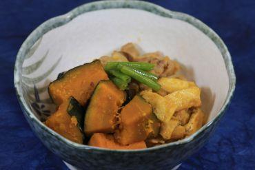 かぼちゃと豚バラ肉の炒め煮