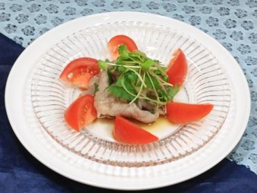 トマトと冷しゃぶのぽん酢サラダ