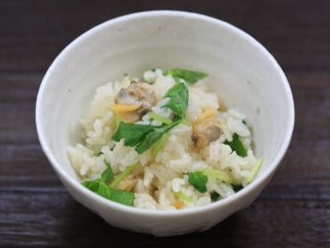 あさりと三つ葉の炊き込みご飯