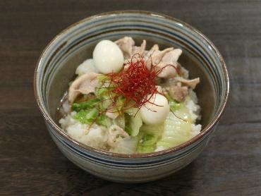 白菜と豚肉の中華風あんかけ丼