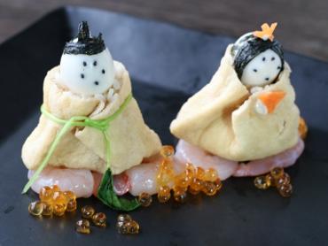 ひな祭り用のいなり寿司