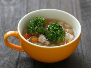 ころころ野菜のぽん酢スープ