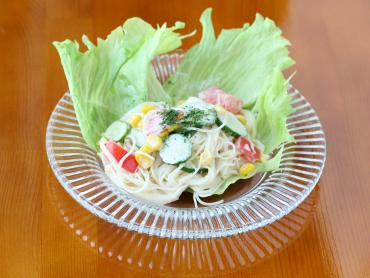 そうめんと夏野菜のサラダ
