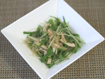 水菜とささみの春雨サラダ