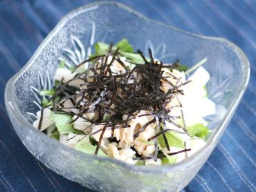 長芋とホタテのサラダ