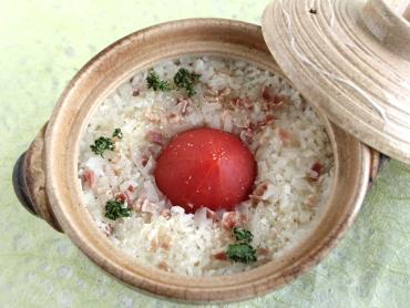 トマト土鍋釜飯