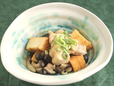 京風鶏と厚揚げのあんかけ煮