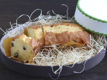 ぽん酢レーズンのパウンドケーキ