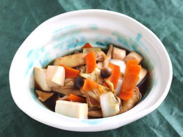 白菜と豆腐のすきやき風炒め煮