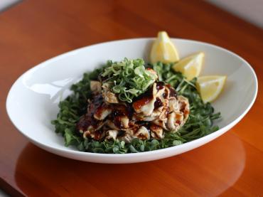 牡蠣だしジュレの冷しゃぶサラダ