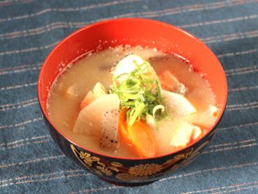 粕汁風のお味噌汁