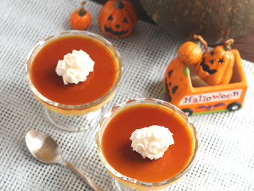 しょうゆカラメルのかぼちゃプリン