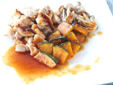 鶏肉とかぼちゃのぽん酢かけ