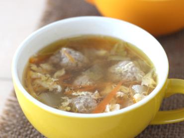 つみれのあったかぽん酢スープ