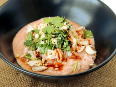 素麺と豆腐のエスニック風まぜ麺